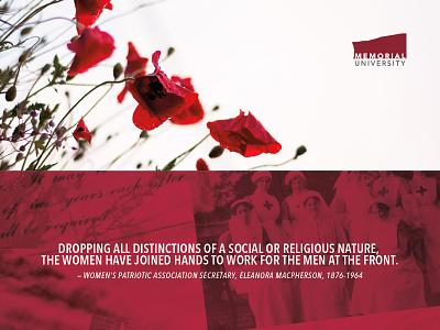Remembrance Day E-Card eleanora macpherson nurses ww100 vpa vad women war remembrance memorial university