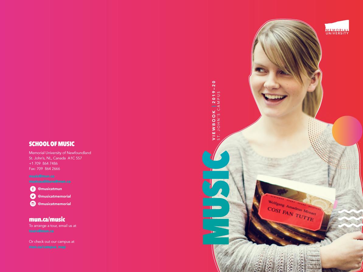 School of Music Viewbook Cover proposal typography branding illustration graphic design concept look and feel school of music gradients design drafts memorial university