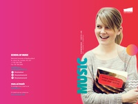 School of Music Viewbook Cover proposal
