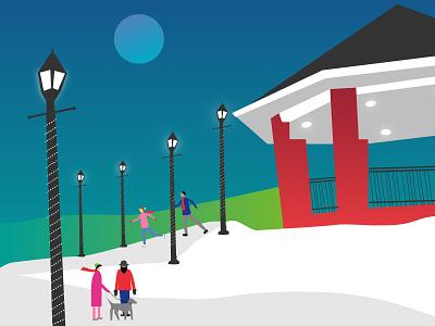 Holiday Card Illustration illustration vector design memorial university