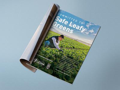 Safe Leafy Greens Print Ad adobe illustrator california nature produce harvest farmer farming lettuce agriculture photography magazine ad