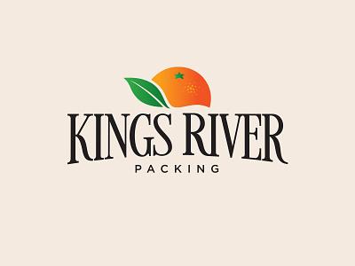 Kings River Packing Logo orange leaf tree fresh produce branding and identity branding fruit illustration fruit citrus logo design logo