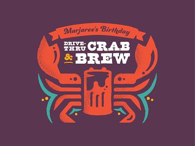 Crab & Brew Logo event fundraiser eat branding logo