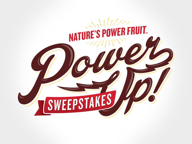 Power Up Promotion Identity logo design marketing sweepstakes logo consumer promotion promotion
