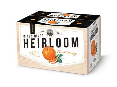 Heirloom Carton carton package box packaging design agriculture oranges citrus produce