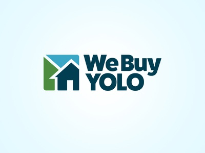 We Buy Yolo Logo branding and identity selling logo branding real estate agency local house home website real estate