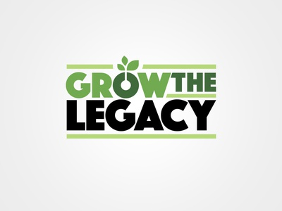 Grow the Legacy Campaign Logo plant rural farm growth agriculture education school non profit charity fundraiser campaign