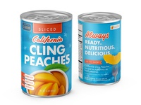 California Cling Peach Can
