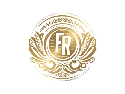 Fred Ruiz Award metallic gold chef cooking agriculture business food trophy event expo branding logo competition contest prize seal award