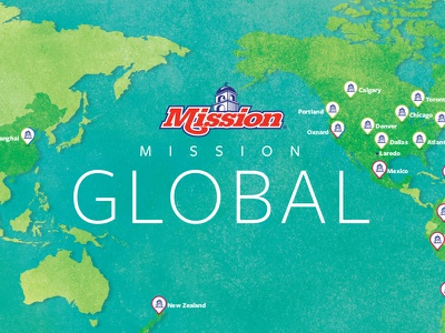 Mission Global Map packaging produce fruit agriculture gps location farms website globe regions growing ux ui interactive illustration map