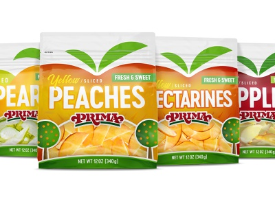 Fresh-Cut Packaging tree agriculture healthy packaging mockup branding illustration fruit illustration pouch bag snack produce fresh fruit packaging