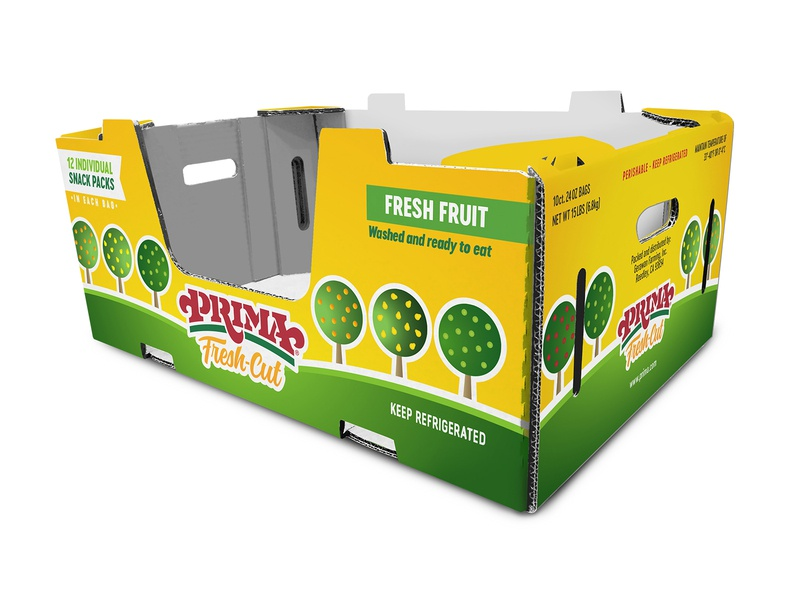 Fresh-Cut Carton growing trees illustration fruit illustration fresh fruit snacks bulk produce food packagingdesign box