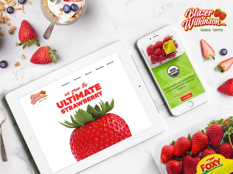 Blazer Wilkinson Website food mobile produce agriculture fruit fresh 3d animation photography ui design website strawberry