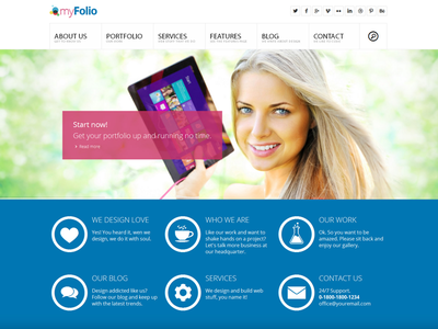 myFolio - Parallax Onepage HTML5 Template metro myfolio agency creative css3 html5 parallax portfolio responsive retina template wordpress