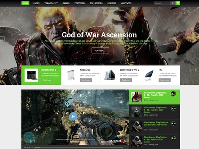 GameZone wordpress layout pc playstation xbox walkthrough gameplay review gaming gaming theme gaming template game