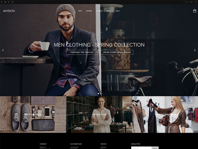 Avision - Elegant clothings store retail template multipurpose store fashion clothing megamenu menu shop