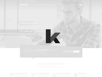 Kallyas Logo Redesign design ui ux theme interface wordpress logo website
