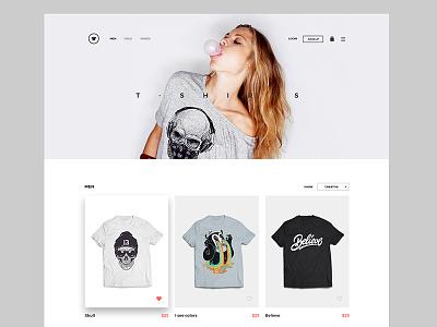 Kallyas WordPress Theme dailyui cart shop flat minimal shirt layout ui ux interface website
