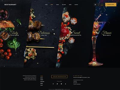 Restaurant Wordpress Theme wordpress website web design ux ui theme shop restaurant interface footer clean blog