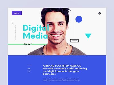 Digital Media Agency theme wordpress ux animation dailyui interface ui flat design graphic webdesign creative website