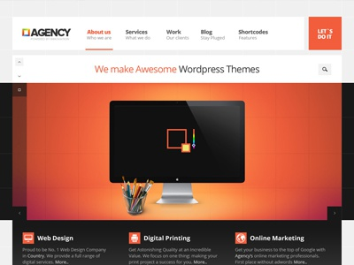 Agency titanicthemes titanic themes html5 css3 responsive agency theme portfolio gallery creative wordpress theme minimal clean website dajy template layout