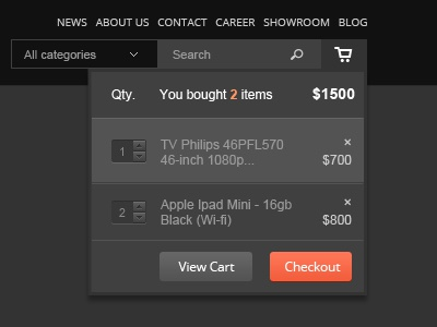 Shopping bag UI shopping bag checkout ui website ecommerce shop cart bag shopping price tag