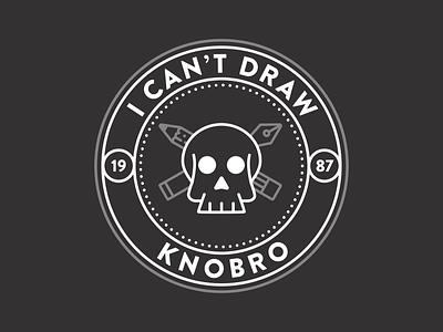 Really, I can't. brandon grotesque badge design knobro draw skull badge design typography illustration vector