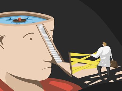 mental health day health mental health procreate drawing illustration 2d