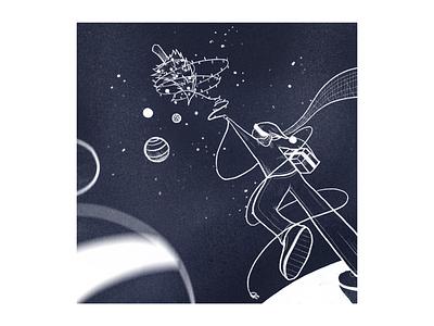 ornaments in the sky stars holiday christmas ipad procreate 2d illustration