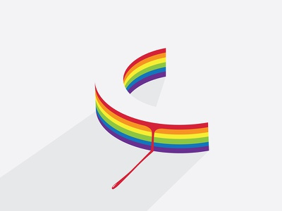 Bleeding Rainbow frustration hurt inspiration design minimal c bleed blood rainbow typography