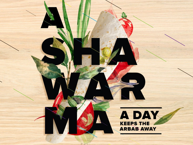 Shawarma A Day vegetables arbab middleeast food shawarma typographic typografi design typeinspire typography