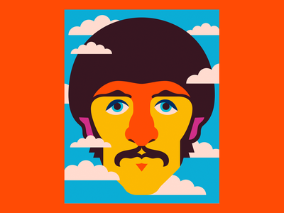 Ringo Starr illustrations thebeatles ringo starr ringo design illustration handmade