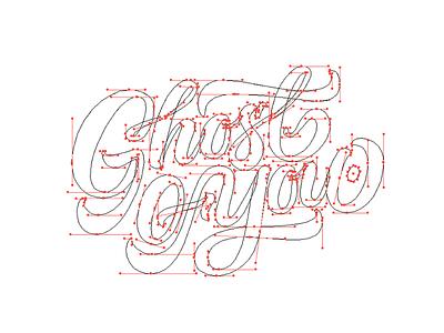 Ghost of You - Beziers vectors branding brand logotype type handmade typography