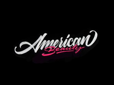 American Beauty handmade logotype sketch lettering typography calligraphy americanbeauty type