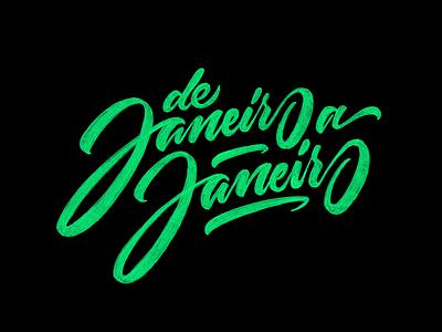 De Janeiro handmade logotype sketch lettering typography calligraphy americanbeauty type