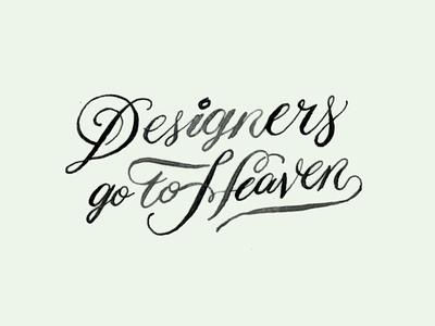 Designer Go To Hell designers black design texture handmade lettering calligraphy typography
