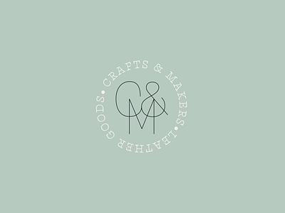 C&M monogram logotype icon design type vector branding logo lettering handmade typography