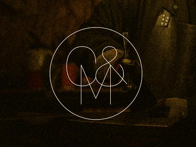 C&M Monogram leather logo vector branding logotype design type black texture handmade typography