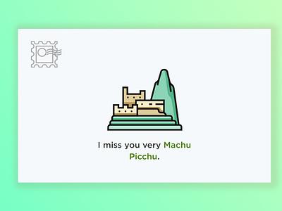 Postcard design machu picchu design postcard weeklywarmup