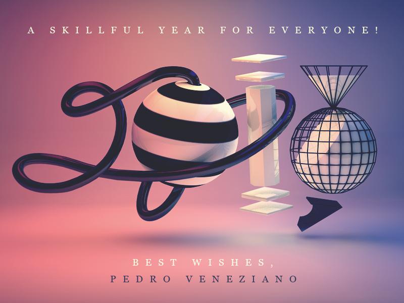 Happy 2013! new year 2013. reveillon 3d