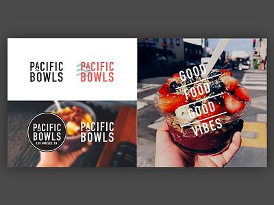 Pacific Bowls - California Acai Cafe Logo Work fruit california pacific branding logo smoothie acai bowl acai