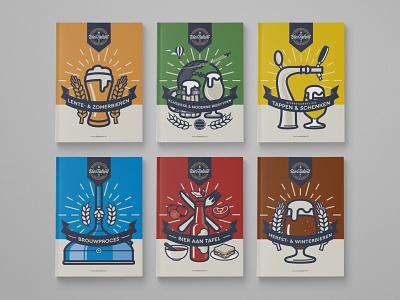 BierTalent Books Covers series graphic beer adobe illustrator illustration branding design