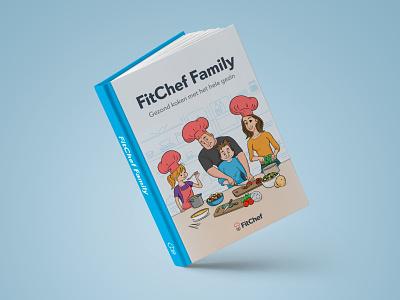 FitChef Cookbook brand layout character design recipes adobe illustrator indesign artwork illustrations design cookbook cooking
