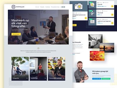 Fotolux website design ui logo branding photographer photography webdesign