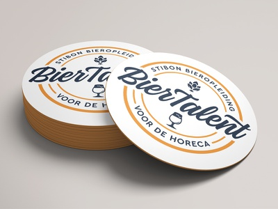 BierTalent Coasters talent branding logo beer branding coaster beer