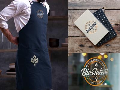 BierTalent Mockups beer branding beer branding photoshop presentation mockup design logo