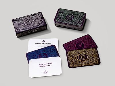 Heldenreis Mockup colors design hero questions questionnaire storytelling card design cards