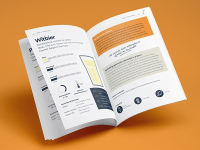 BierTalent Booklet Inside facts orange design lessons beer branding book