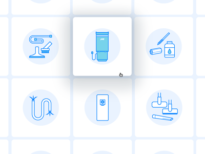 Central Vacuum System Icons