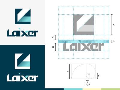 Laixer logo mark technology modern geometric logotype artificial intelligence branding design logo